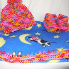 Polar Fleece Bunny Rug/Beanie and Booties