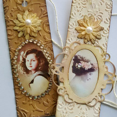 Set Of Two Decorative Gift Tags