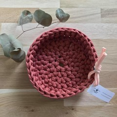 Crochet basket | essential oils | home decor | storage basket | TERRACOTTA RED