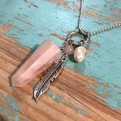Rose Quartz Trinket Necklace