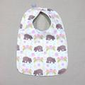 bib - pink wombat / eco friendly / organic cotton hemp fleece / baby toddler