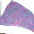 Shawl/Scarf/Cowl in Dark Blue Purple and Jade