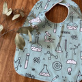 bib - chemistry / eco friendly / organic cotton hemp fleece / baby toddler