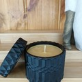 Scented Candle | Black Mandala | Sea Salted Caramel | Approx 80 Hour Burn time