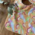 bib - orange galahs / eco friendly / organic cotton hemp / baby toddler