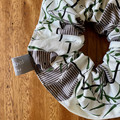 scrunchie - koalas / Australian animals / green grey white / organic cotton