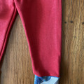 Winter leggings - red / organic cotton hemp fleecy pants / 1-3 years