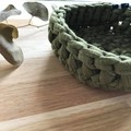 MEDIUM |Crochet basket | essential oils | storage basket | OLIVE GREEN