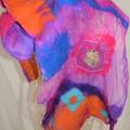 Embellished Nuno Felted Scarves
