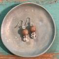 Caramel Latte earrings