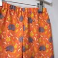 shorts - orange echidna / cotton / sizes 6-12 months - 12 years