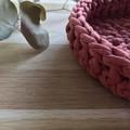 Crochet basket | essential oils | home decor | storage basket | TERRACOTTA RED