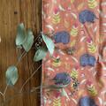 burp cloth - echidnas orange / organic cotton hemp fleece / baby toddler