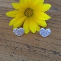 Recycled 99.9% Silver Heart Studs