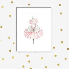 Swan Lake Tutu | Art Print | Nursery Art | Ballerina | Ballet Art | Little Girls