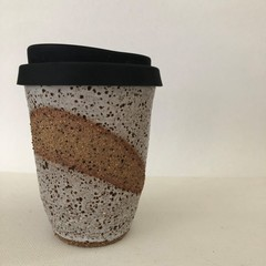 Keep Me Coffee Cup - Reusable/Travel Cup with Siliconed Lid - 10oz (ii)