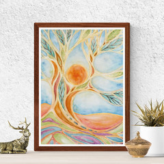 Tree Art, Watercolour Tree, Printable art, Instant digital download