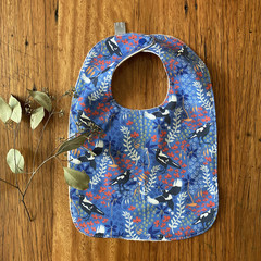 bib - blue newborn / organic cotton hemp fleecy / baby toddler