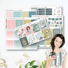 Spring Weekly Kit Planner Stickers Vertical for the Erin Condren - KIT007