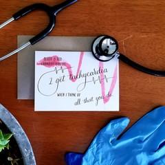 TACHYCARDIA DREAMS A6 Calligraphy Ink Watercolour Print Appreciation Card