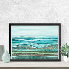 Ocean Art, Watercolour Ocean, Printable art, Digital download, Instant download,