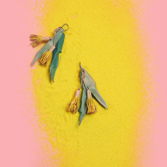 Eucalypt Earrings - Yellow