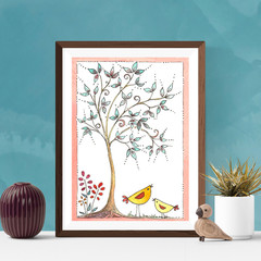 Whimsical Art, Watercolour Tree, Printable art, Instant digital download