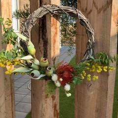 30cm artificial Australian Native wreath