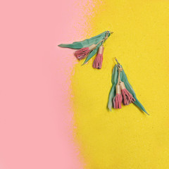 Eucalypt Earrings - Soft Pink