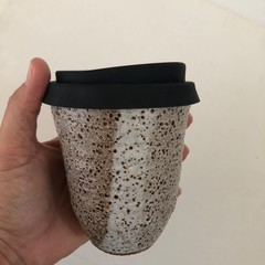 Keep Me Coffee Cup - Reusable/Travel Cup with Siliconed Lid - 10oz (iv)
