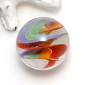 Rainbow and Dichroic Twist Collectable Flamework Glass Marble