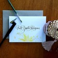 """""""DIGITAL FILE"""" -- EXPLICITLY AWESOME A6 Calligraphy Ink Watercolour Card"""