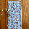burp cloth - blue wombats / organic cotton hemp fleecy / baby toddler