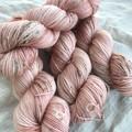 4ply handdyed Australian merino/nylon sock  390m 100g 'mud speckled petticoat'