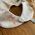 bib - grey bilby / organic cotton hemp fleece / Easter gift / baby toddler