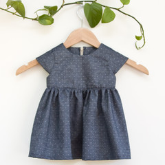 Eco Upcycled Denim Toddler Dress Size 1