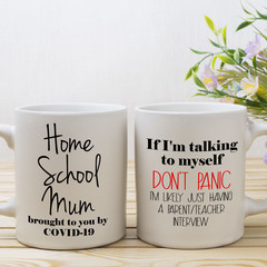 Home School Mum Coffee Mug, Brought to you by COVID 19, Home School, Funny Mug,