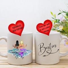 Personalised Best Friend Mermaid Coffee Mug, Best Friend Mug, Gift for BFF