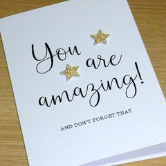 You are amazing - thank you card