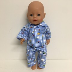 Dolls Pajamas to fit Cabbage Patch and Baby Born Dolls