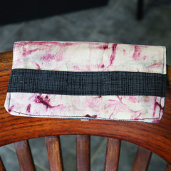 Hand-dyed front fabric wallet