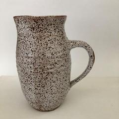 Pottery Water Jug/Pitcher/Vase - White Speckle Glaze