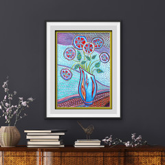 Abstract Art, Watercolour Flowers, Printable art, Instant digital download