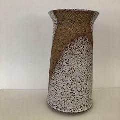 Pottery Vase - White Speckle Glaze