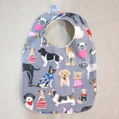 bib - happy dogs / organic cotton hemp fleecy / baby toddler