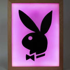 Playboy Bunny Logo light box led wax painting
