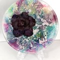 Resin Alcohol Ink Flower - Mystic