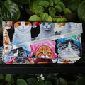 Cat lover fabric wallet