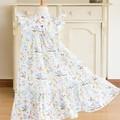 283 Hand-smocked sleeveless cotton dress, age 6, koalas, cockatoos, gum leaves