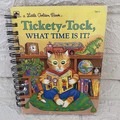 2020/2021 Financial Year Upcycled Diary -  Little Golden Book - Tickety - Tock